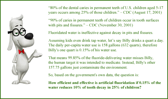 Fluoride Concentration: Water, Toothpaste